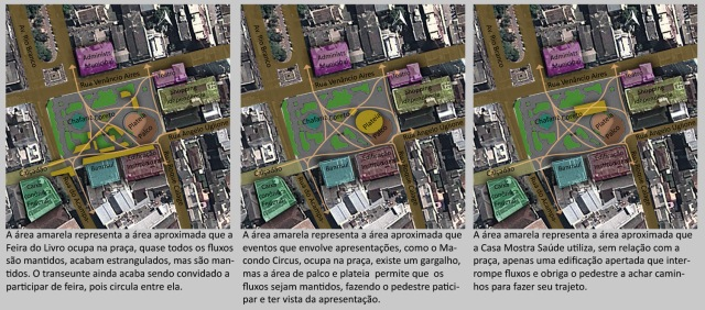 Comparativo aproximado entre eventos na Praça Saldanha Marino