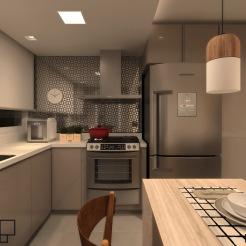 Cozinha com pé direito menor