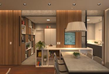 Apartamento Bitha - Cozinha aberta