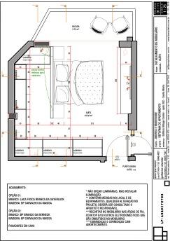 Apto AMAF - Detalhamento de Mobiliário - Note as diferentes profundidades dos armários